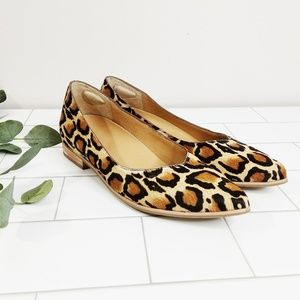 Dr Scholl's Pointed toe Calf Hair Leopard Flat